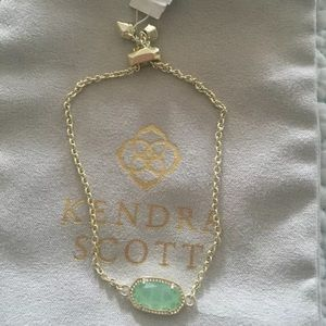 Kendra Scott Elaina Adjustable Chain Bracelet 14K